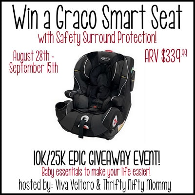 Graco Smart Seat with Safety Surround Protection All-in-One Car Seat Review and Giveaway! #10k/25kEpicGiveaway!
