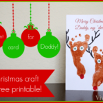 Christmas Card Daddy Craft DIY