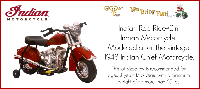 GiGGo Little Vintage Indian Motorcycle