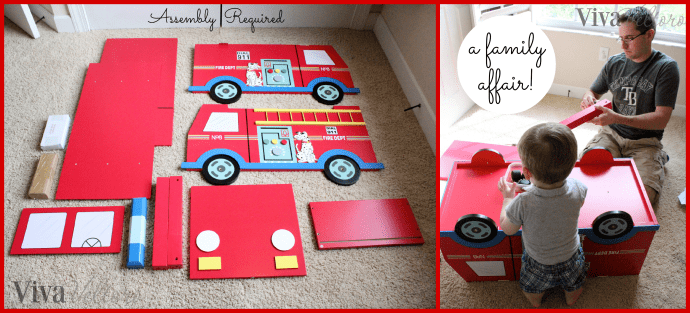 Teamson Fire Truck Toy Chest