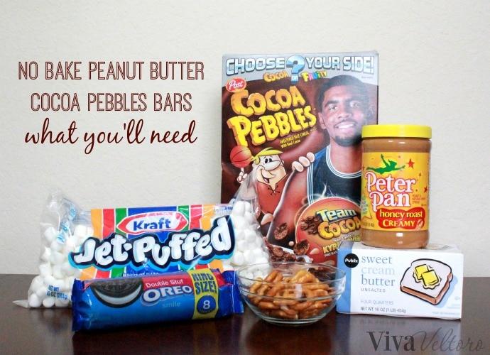 No Bake Peanut Butter Cocoa Pebbles Bars! - Viva Veltoro