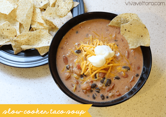 slow cooker taco soup freezer meal