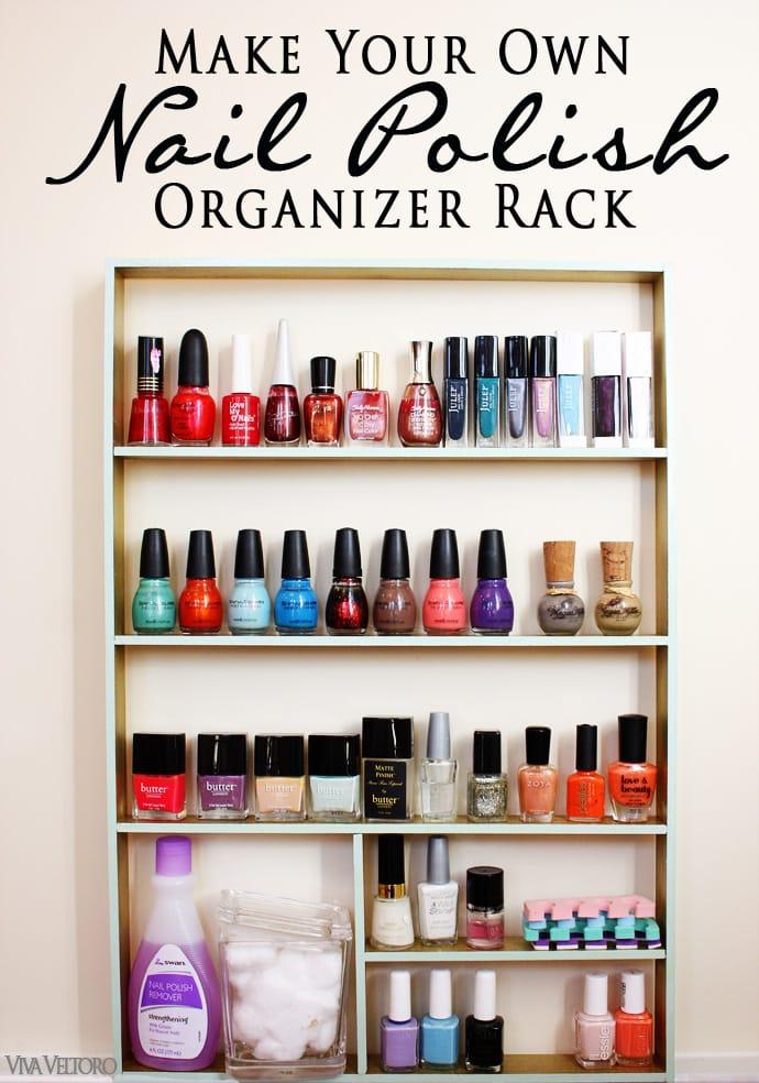 Organize your Nail Polish! #DIY Nail Polish Organizer