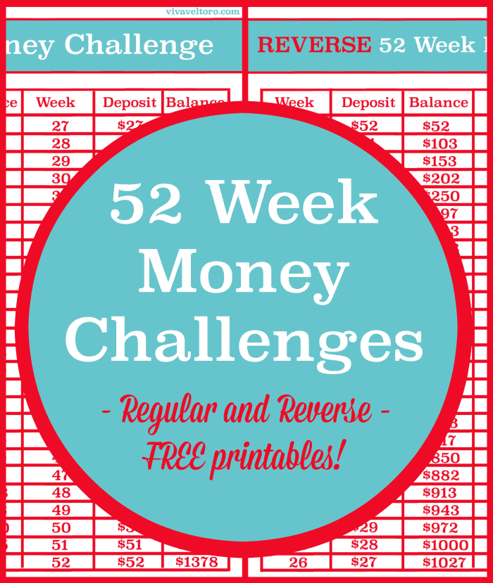 image relating to 52 Week Money Challenge Printable titled The 52 7 days Monetary Concern vs. the Opposite 52 7 days Fiscal