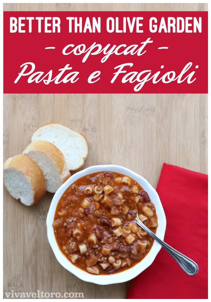 Better Than Olive Garden Pasta Fagioli Copycat Recipe Viva Veltoro
