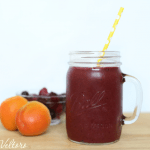 Berry and apricot smoothie