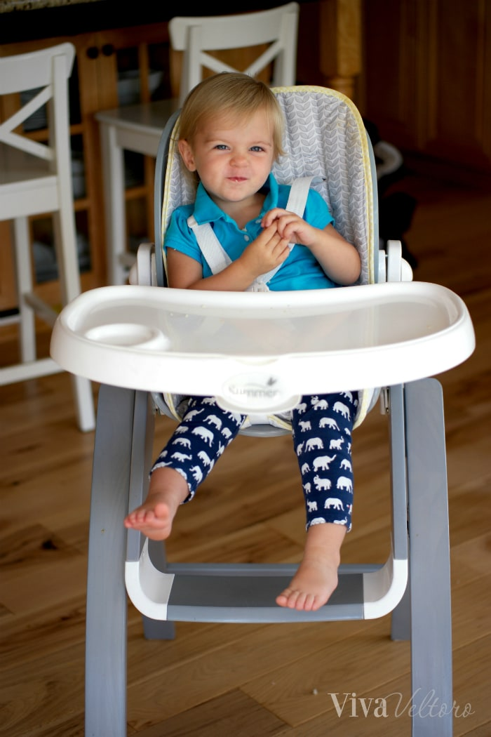 Bentwood Highchair In Chevron Leaf Hy Toddler