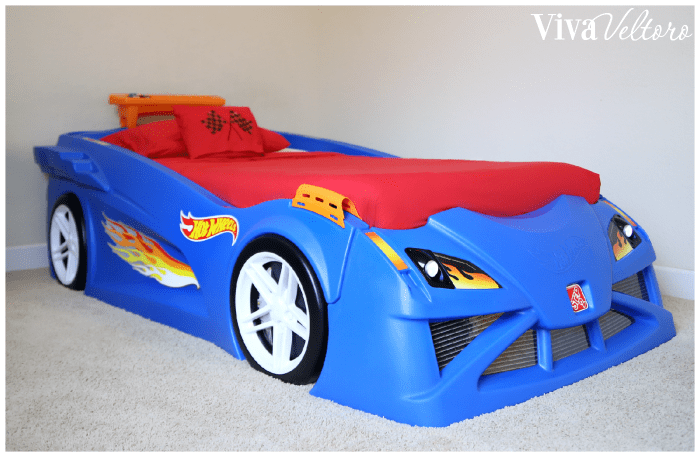 race car bedroom featuring the step2 hot wheels toddler to twin