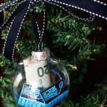 clear glass ornament money
