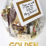 golden gift basket