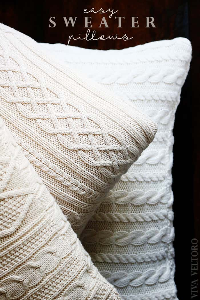 make your own sweater pillows! diy tutorial - viva veltoro Make Your Own Pillow