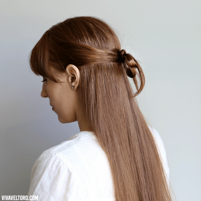 Easy hairstyle a simple hair bow made out of your own hair how to do an easy hair bow hairstyle using your own hair urmus Choice Image