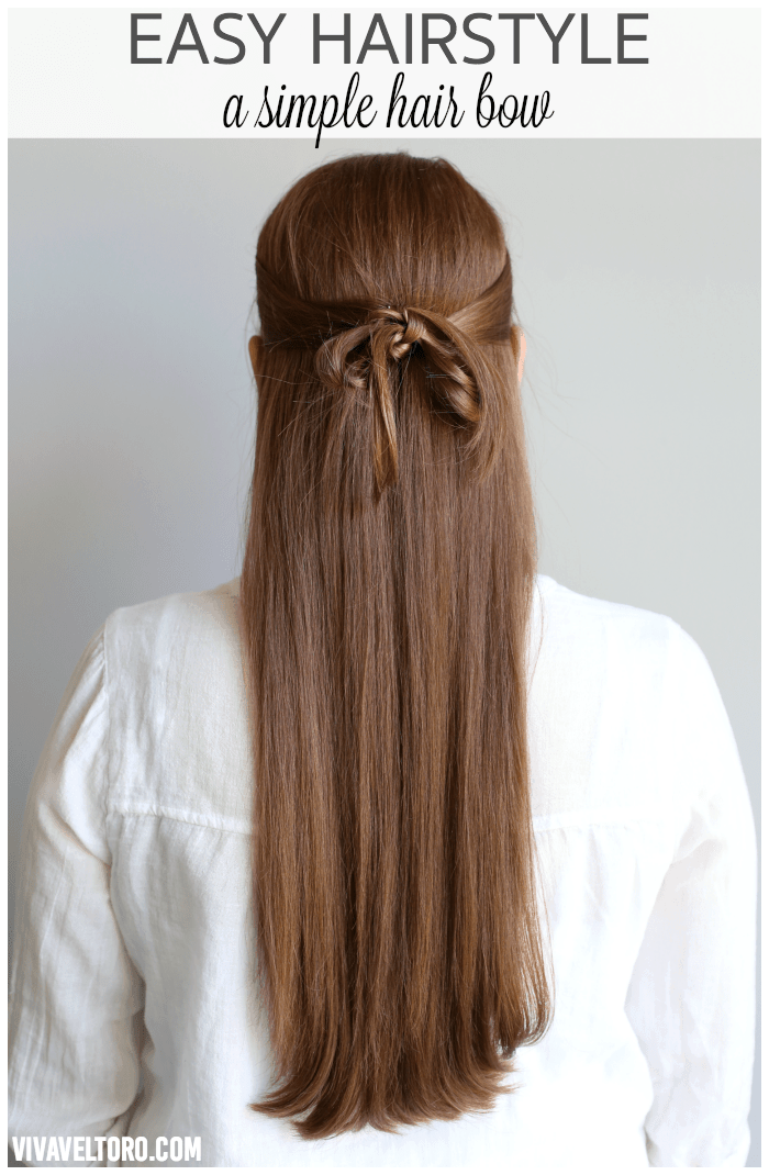 Easy Hairstyle A Simple Hair Bow Made Out Of Your Own Hair Viva