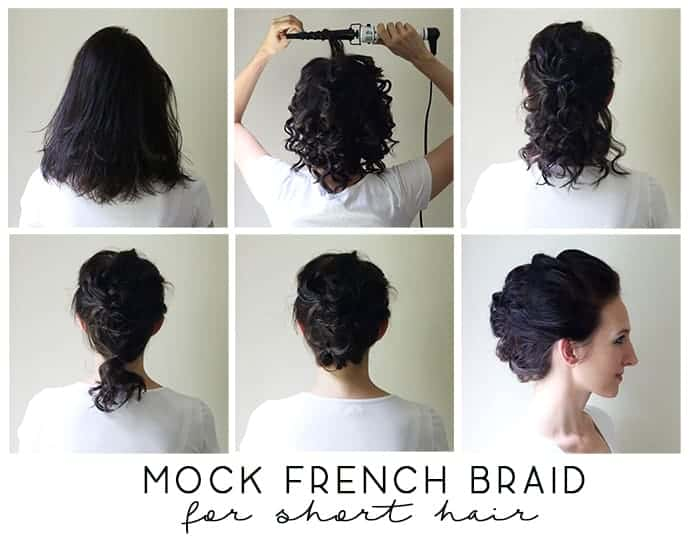 Mock French Braid with High Volume for Short Hair Tutorial