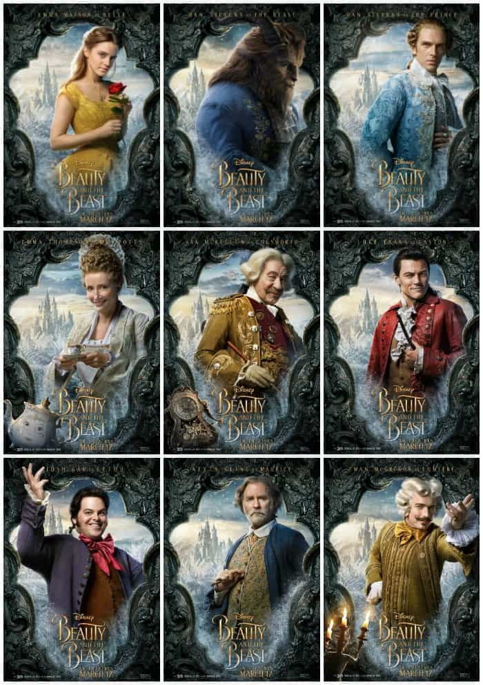 Beauty And The Beast Final Trailer Cast Character Posters Viva Veltoro