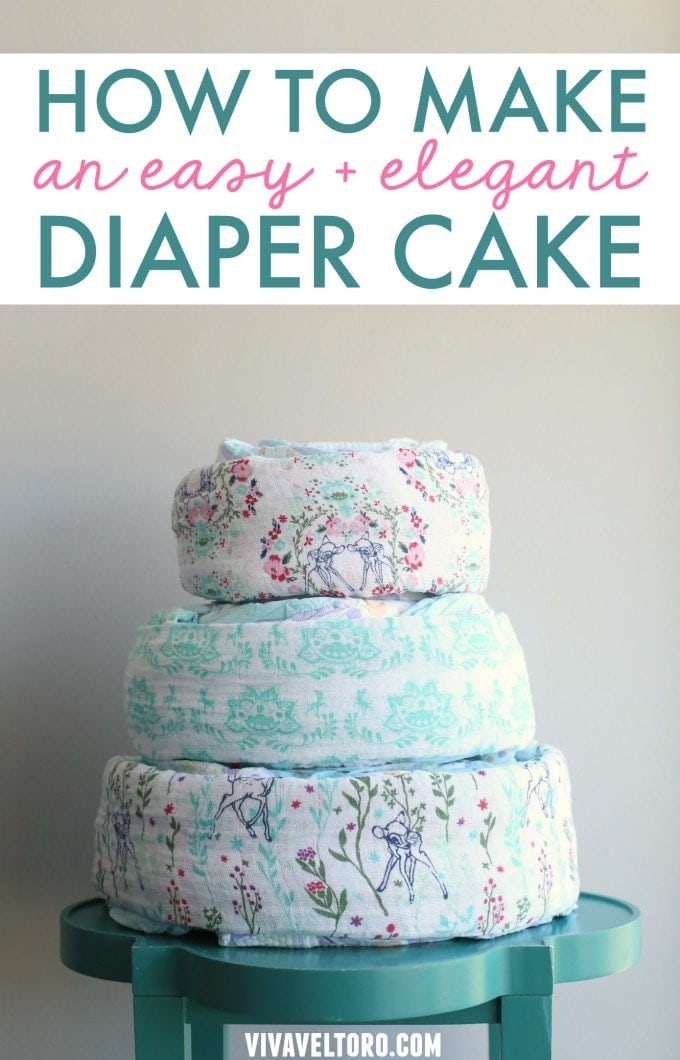 how to make a baby shower diaper cake viva veltoro