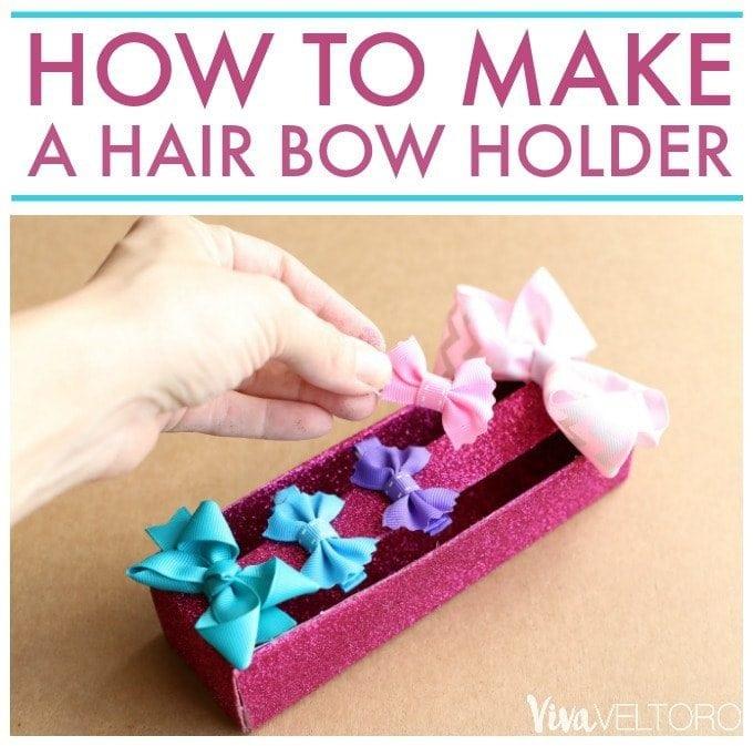 How To Make A Hair Bow Holder Easy Upcycle Diy Viva Veltoro