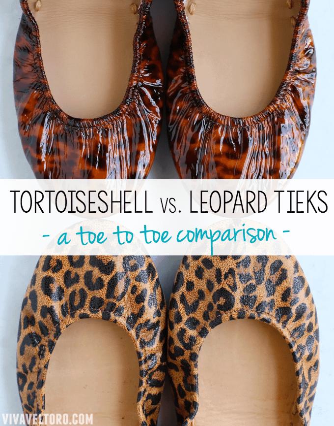 Leopard Tieks and Tortoiseshell Tieks