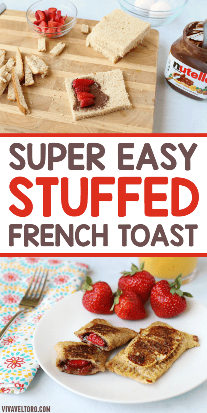 This super easy stuffed French toast will be your child's new breakfast favorite. Just add