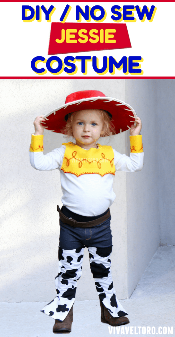 How to make a jessie toy story costume no sewing required viva diy jessie costume for halloween or any old time jessie toy story solutioingenieria Images