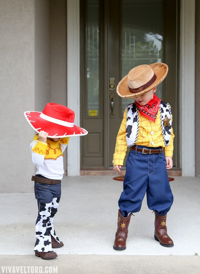 woody and jessie costumes & How to Make a Jessie Toy Story Costume. No Sewing Required! - Viva ...