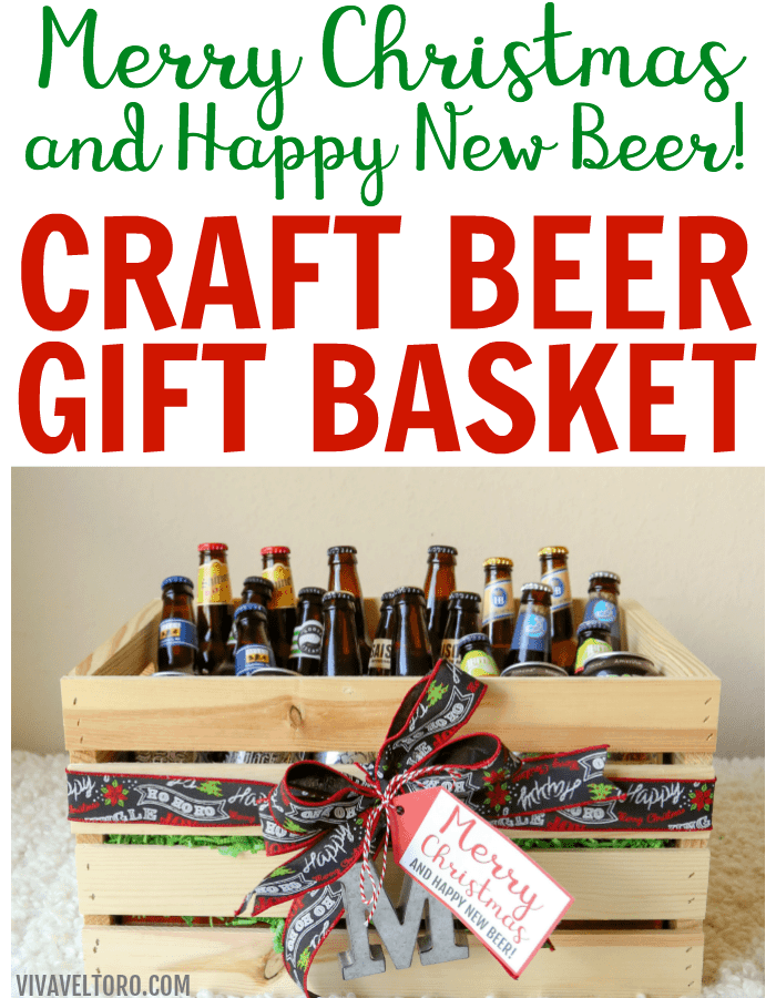 Craft Beer Gift Baskets for Men - Merry Christmas and Happy New Beer ...
