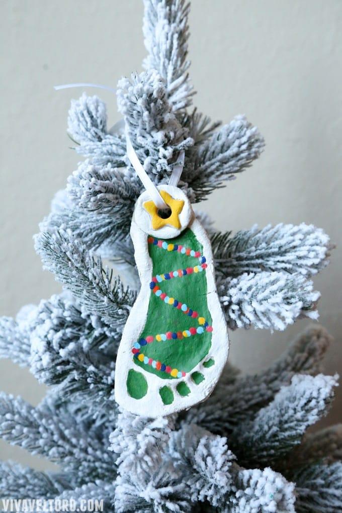 Salt Dough Footprint Ornaments - Ideas and Inspiration ...