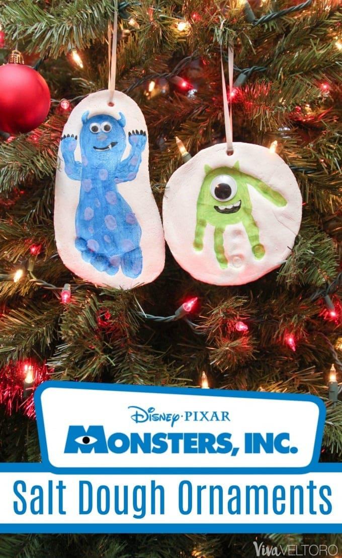 Easy Salt Dough Monsters Inc Christmas Ornaments