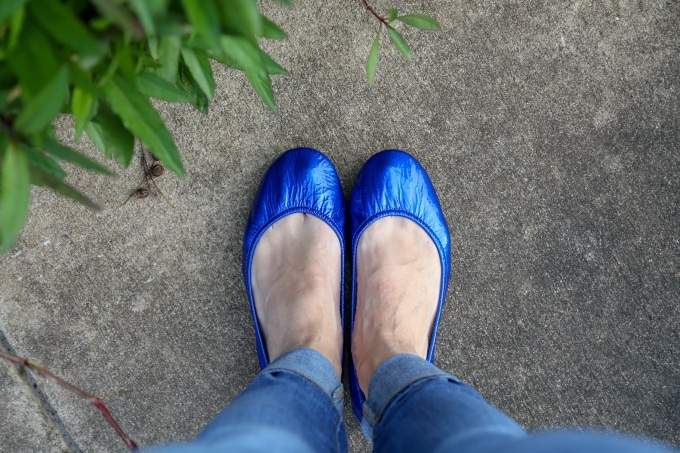 a47a0b5def Ballet Flats Fit For A Queen. How I Style Sapphire Tieks. - Viva Veltoro