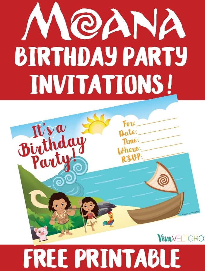 photo regarding Printable Moana Invitations referred to as Moana Invitation - No cost Printable Moana Birthday Invites