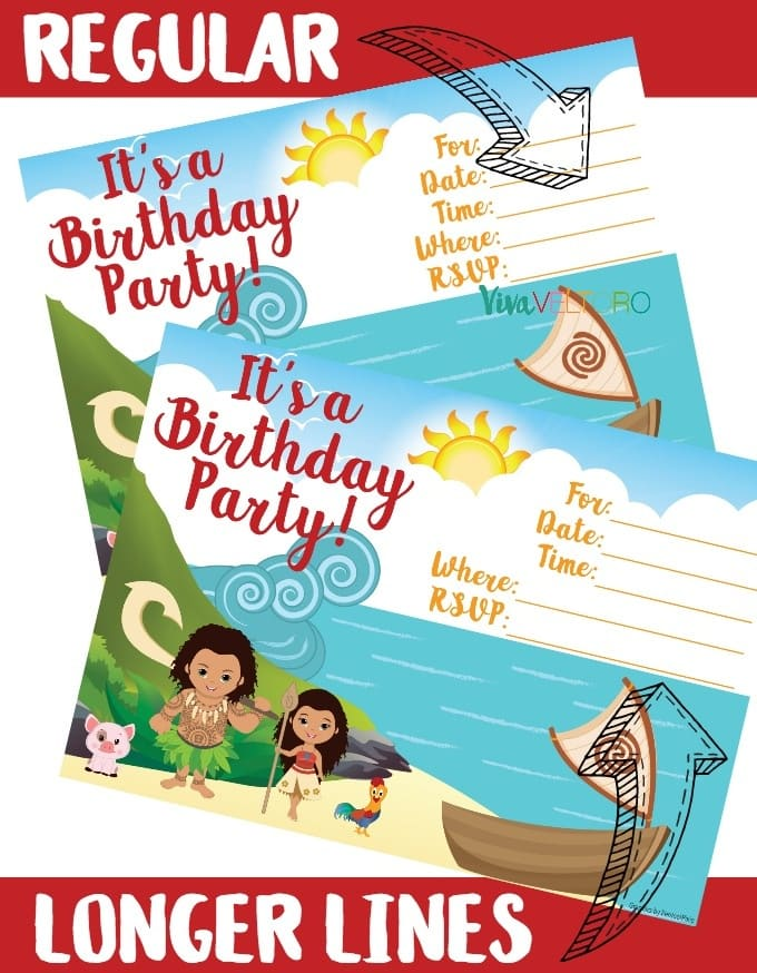 photograph regarding Moana Printable Invitations titled Moana Invitation - Free of charge Printable Moana Birthday Invites