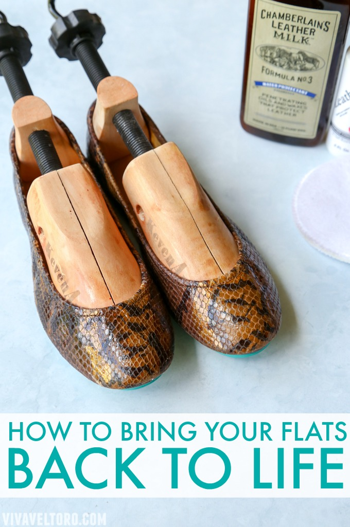 How to Rehab Your Tieks with Chamberlains Leather Milk