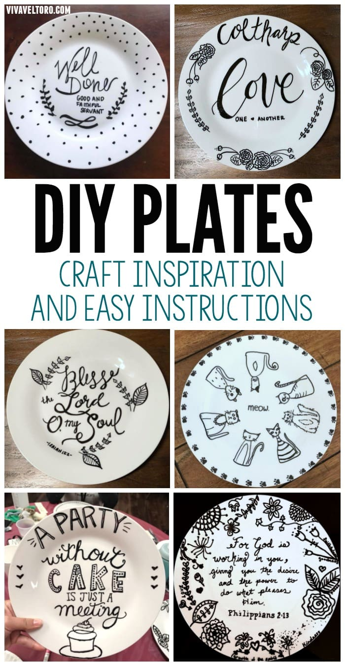 Dollar Store Crafts Diy Sharpie Plates Inspiration And Instructions Viva Veltoro