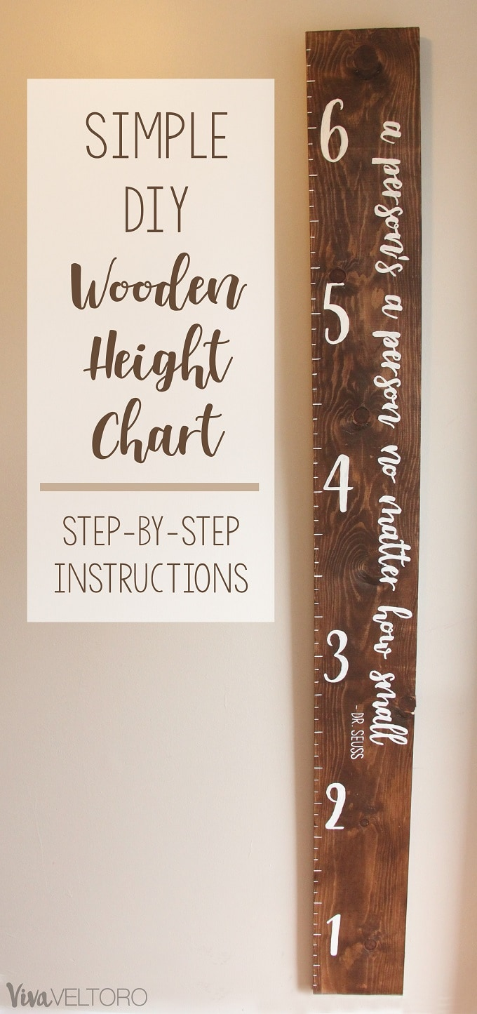 Diy Wooden Growth Chart For Kids Step By Step Instructions
