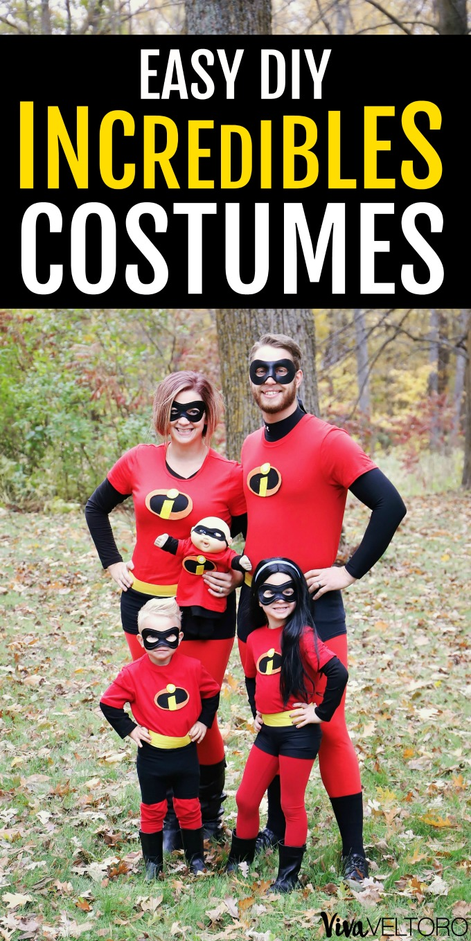 Easy Diy Incredibles Costumes For The Whole Family Viva Veltoro