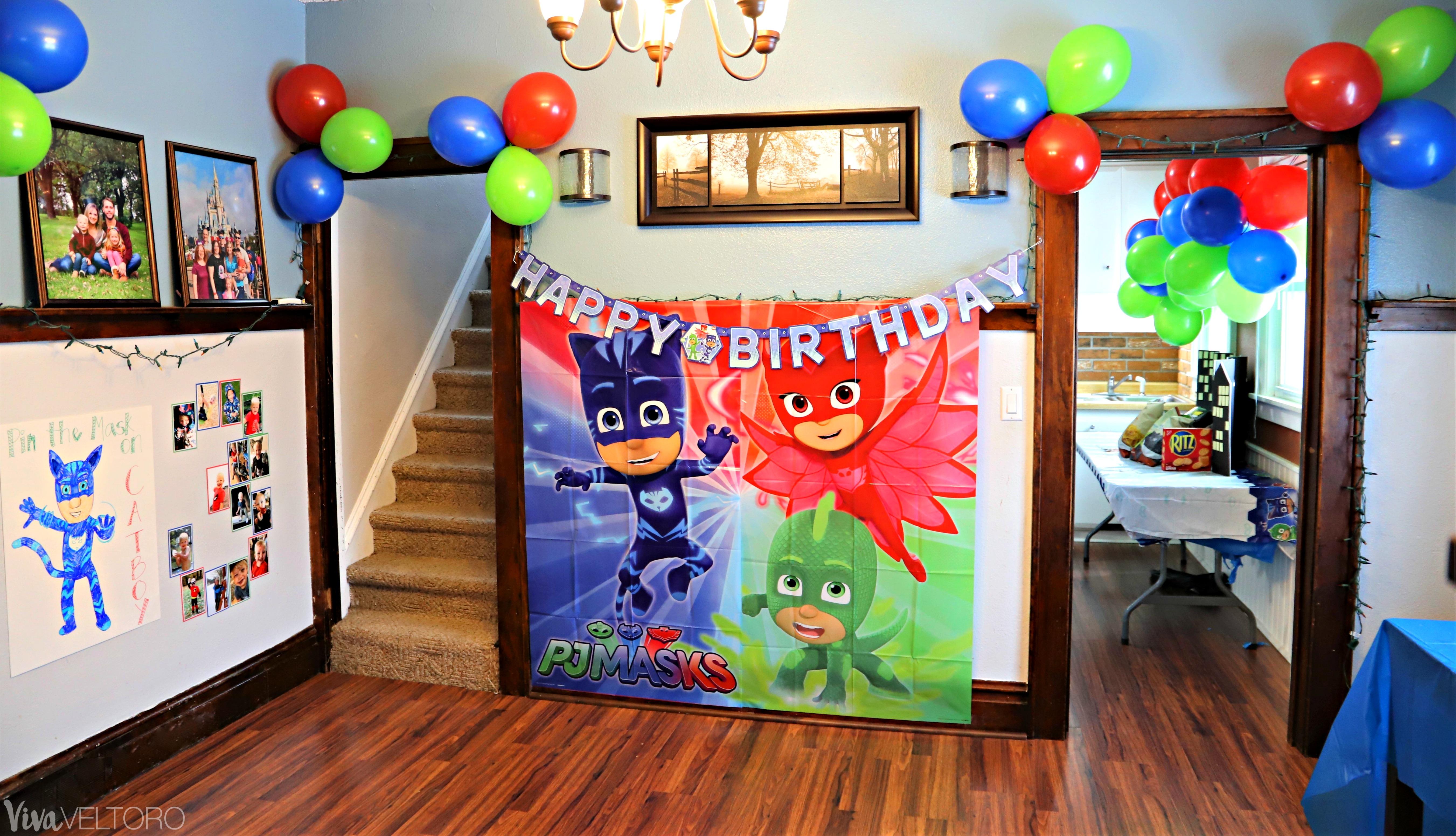PJ Masks Party Supplies DIY Birthday Ideas