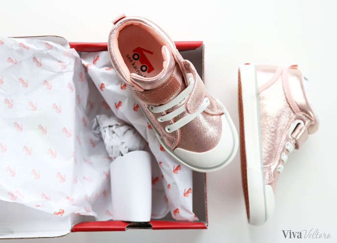 ea4f9b4f7bac Could there be a more perfect pair of shoes for a 4-year-old girl than a  pair of shimmer pink high tops ! We are both so in love with these shoes!